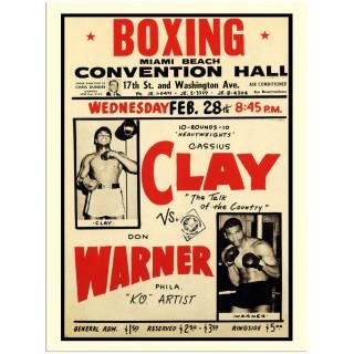 cassius-clay-vs-don-warner-boxing-metal-sign