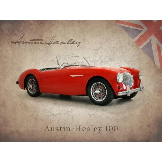 austin-healey-100-vintage-metal-tin-sign