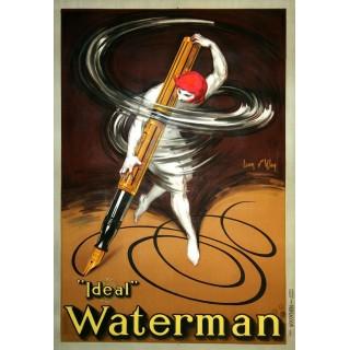 ideal-waterman-fountain-pen-metal-sign