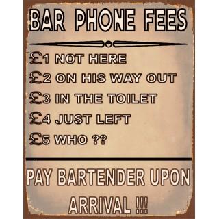 bar-phone-fees-funny-pub-bar-tin-sign