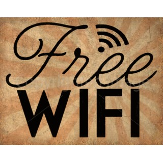 free-wifi-vintage-style-bar-pub-club-tin-sign