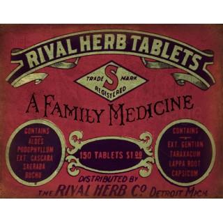 rival-herb-tablets-vintage-medical-metal-tin-sign