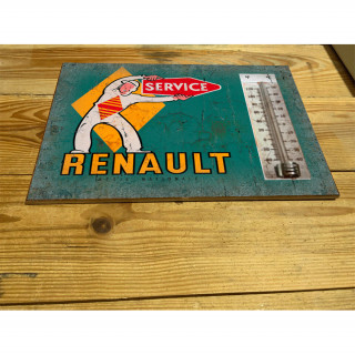 Renault service enamel ceramic thermometer sign