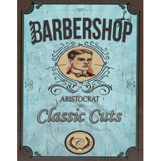 Barber Shop Aristocrat   vintage  barber metal tin sign poster