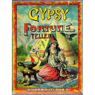 Gypsy Fortune Teller metal tin sign poster pub bar wall plaque