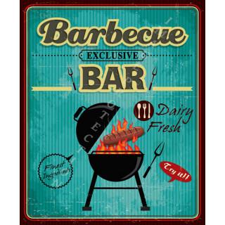 Barbecue Bar vintage food metal tin sign poster