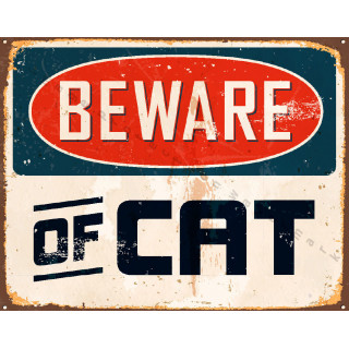 Spratts Cat Food vintage pet shop metal tin sign poster