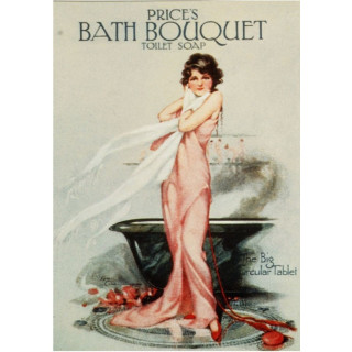 Prices bath soap  vintage metal tin sign poster wall plaque