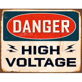 Danger High Voltage vintage metal tin sign poster plaque