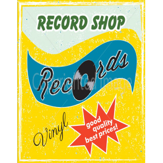 Record shop vinyl best prices vintage metal tin sign poster plaque