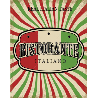 Real Italian Taste  vintage  food metal tin sign poster