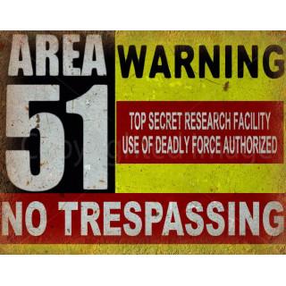 Sci-Fi Fantasy Military Area 51 metal tin sign poster pub bar wall plaque
