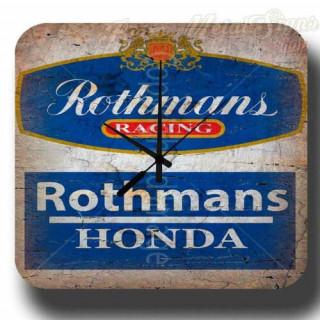 Rothmans Racing Honda garage metal tin sign wall clock