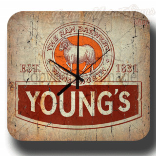 Youngs  Bitter vintage pub metal tin sign wall clock