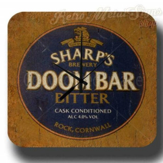 Sharp's Doom Bar Beer vintage pub metal tin sign wall clock