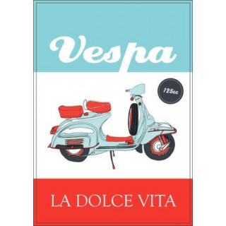 vespa scooter metal sign  vintage metal tin sign wall plaque