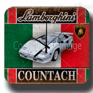 Lamborghini Countach garage metal tin sign wall clock