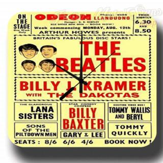 The Beatles Philadelphia Convention Center 64 metal tin sign wall clock