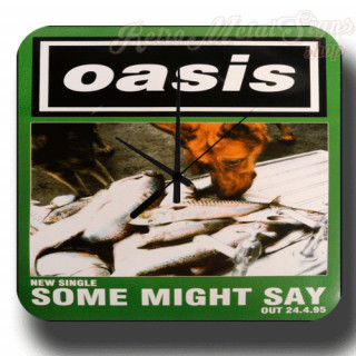 Oasis Some Might Say 1995 metal tin sign wall clock