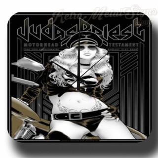 Judas Priest metal tin sign wall clock