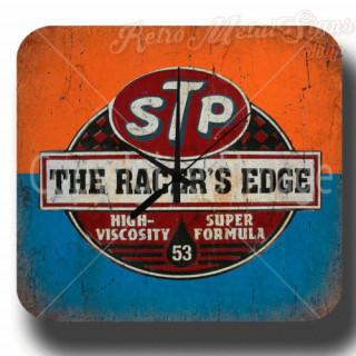 Stp Oil The racers edge garage metal tin sign wall clock