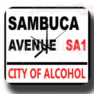 Sambuca  Avenue Beer vintage pub metal tin sign wall clock
