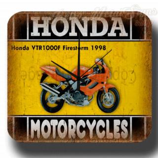 Honda VTR1000F Firestorm 1998 vintage retro metal tin sign wall clock