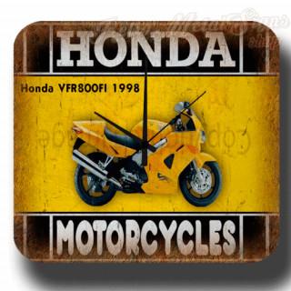 Honda VFR800FI 1998 vintage retro metal tin sign wall clock