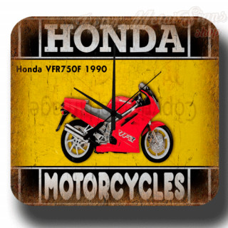 Honda VFR750F 1990 vintage retro metal tin sign wall clock