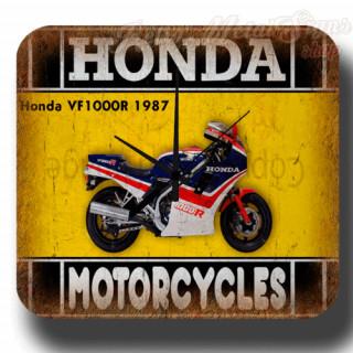 Honda VF1000R 1987 vintage retro metal tin sign wall clock