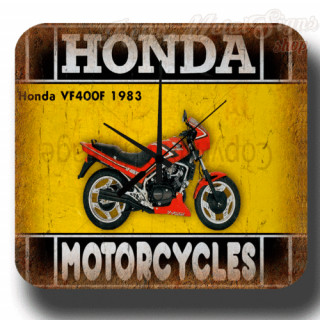 Honda VF400F 1983 vintage retro metal tin sign wall clock