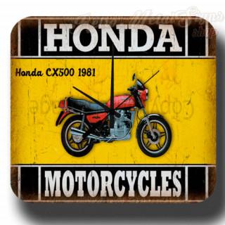 Honda CX500 1981  vintage retro metal tin sign wall clock