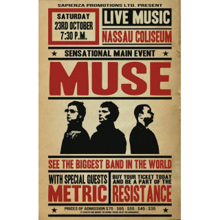 MUSE Tour Concept  music metal tin sign poster wall plaque