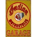 Indian motorcycles service  vintage garage advertising plaque metal tin sign poster