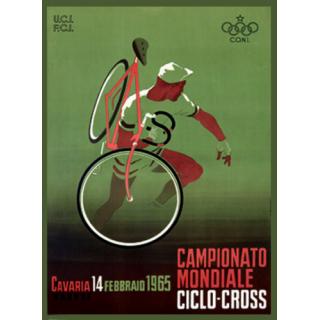 Campionato Mondiale, Ciclo, 1965 vintage metal tin sign wall plaque