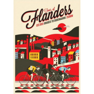 Tour of Flanders  vintage metal tin sign wall plaque