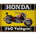 Honda F6C Valkyrie  classic motorcycle  vintage garage advertising plaque metal tin sign poster
