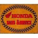 Honda motorcycles sales service vintage metal tin sign poster