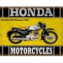 Honda C70 Dream 1956 classic motorcycle  vintage garage advertising plaque metal tin sign poster