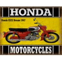 Honda CA72 Dream 1967 classic motorcycle  vintage garage advertising plaque metal tin sign poster