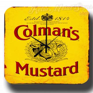 Colmans Mustard  vintage  metal tin sign wall clock