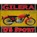 Gilera 175 Sport1956  classic motorcycle  vintage garage advertising plaque metal tin sign poster