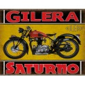 Gilera Saturno 1951  classic motorcycle  vintage garage advertising plaque metal tin sign poster