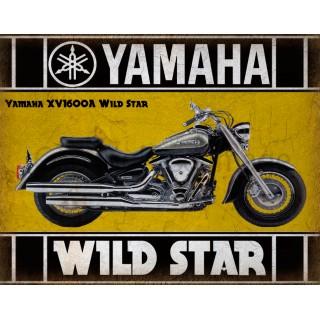 Yamaha motorcycles sales service vintage metal tin sign poster