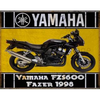 Yamaha FZS600 Fazer 1998 motorcycle vintage metal tin sign poster wall plaque