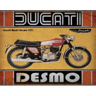 Ducati Mark3 Desmo 1971 motorcycle vintage metal tin sign poster wall plaque