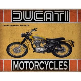 ducati-scrambler-350-1970-motorcycle-metal sign