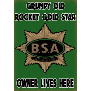 BSA Rocket Gold Star motorcycle vintage metal tin sign poster wall plaque