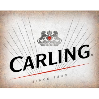 Carling Beer vintage alcohol metal tin sign poster