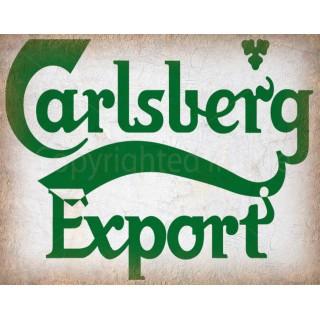 Carlsberg Beer vintage alcohol metal tin sign poster